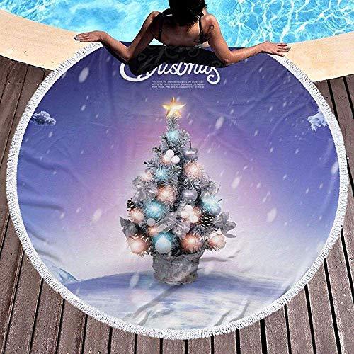 Nazi Mie Weihnachtsbaum-Badetuch - großer Terry Beach Roundie Circle Picknick-Teppich