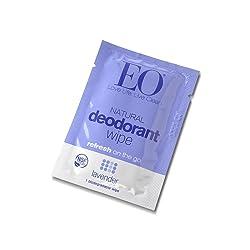 EO Organic Aluminum Free Biodegradable Deodorant Wipe, Lavender