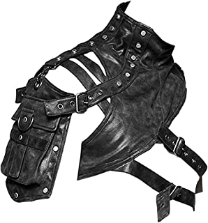 Gear Duke Travel Sport Arm bag Pack Bag Vintage Steampunk Shoulder Bag Gothic Guard Armour Body Chest Harness Shoulder Armors Cosplay Halloween Accessory Black Unisex Running Fitness Cycling Hiking