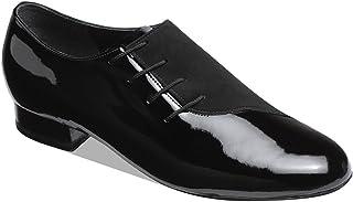 Supadance - heren dansschoenen 6901 - lak/nubuk zwart - normale breedte