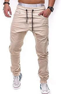 Oliviavan Pantalones para Hombre,Moda de Hombre Casual Vintage El/ástico Wash Disstressed Denim Slim Pantalones Vaqueros
