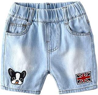 ZCLADLY Children's Summer Denim Shorts Korean Version of The 2019 New Hot Hot Pants Fifth Loose A Generation of Children Damp (Color : Light Blue, Size : 100cm)