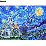 LMYLY DIY 5D Full Diamond Painting Mosaic Doctor Who Painted Abstract Landscape Embroidery Christmas Gfit Pictures Needlework 40X50Cm(16X20Inch)