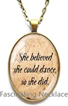 Fashion Necklace,She Believed She Could So She Did, Necklace Inspirational, Quote Jewelry, Personalized Custom, Stamped Jewelry, She Believed Necklace, Lyric,AE0050