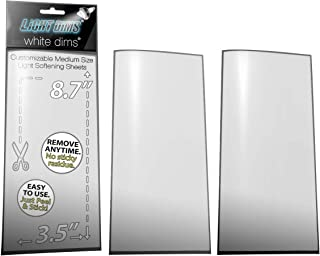 LightDims White Dims Dimming/Softening Sheets for Harsh LED Lights Medium Size (2 Sheets) Neutral Color Retail Packaging