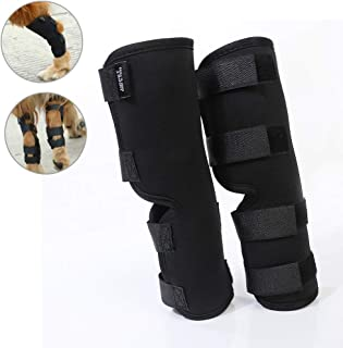 Yuqoka Dog Knee Brace for Torn Acl Hind Back Leg Dog Canine Protector Rear Leg Hock Joint Wrap Protects Compression Sleeves for Injury and Sprain Protection