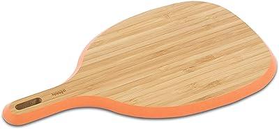 pebbly ペブリー ハンドル付きカッティングボードXS 竹製 29 x 16 cm ピーチ NBA062
