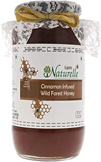 Farm Naturelle-Real Cinnamon Infused 100% Pure Raw Natural Wild Forest Honey-(1.45 KG Big Glass Bottle) -Delicious and Hea...