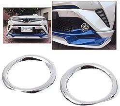 BAAQII 2pcs ABS Chrome Front Fog Lamp Light Cover Trim for TOYOTA C-HR CHR 2017 2018