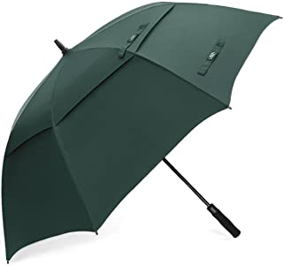 68 Inch Sombrilla de Golf a Prueba de Viento Toldo Doble Ventilado Extra Grande de Gran Tamaño Automático Abierto Impermeable Stick Paraguas para Adulto Unisex