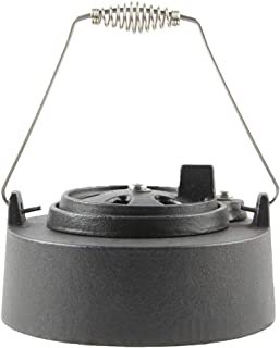 Dual Function Metal Top Cast Iron Chimney Cap with Daisy Wheel Slide Draft Top Damper Cap Vent Fit for Small Big Green Egg Accessories Charcoal Grill BBQ Kamado Replacement (for Small BGE)