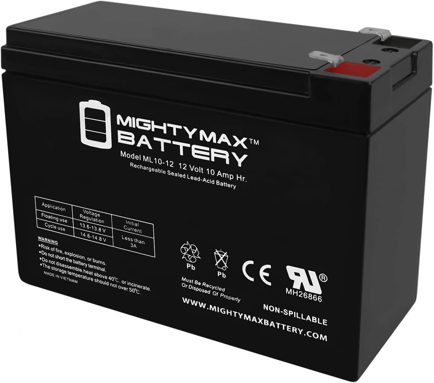 Finally resale start Mighty Max Battery 12V RazorChopper 10AH Replacement Super-cheap for
