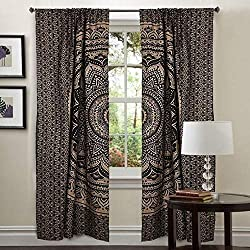 Room Darkening Mandala Curtains