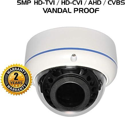 Ares Vision 4 in 1 AHD/TVI/CVI/Analog CCTV Camera w/IR Night Vision (5 MP, Dome VP)