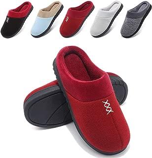 Wishcotton Femmes Confortables en Tricot de Coton Anti-d/érapant Maison Pantoufle Lavable /à la Maison Chaussures