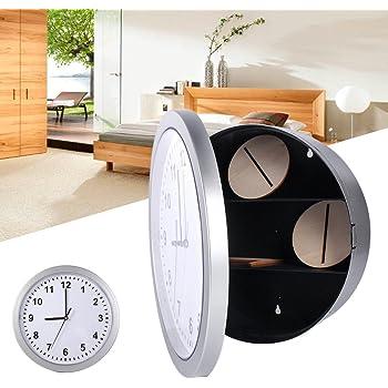 GOTOTP Reloj de Pared Caja Fuerte Camuflada Caja Fuerte Oculta con 3 Compartimentos para Objetos de Valor o Efectivo 25 x 7cm: Amazon.es: Hogar