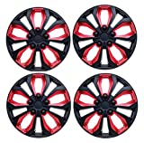 SUMEX 5070138b 15' Hubcap (CAR+ SPA ABS Red and Black)