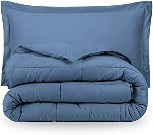 Coronet Blue Twin Extra Long Down Alternative Comforter Set by Ivy Union