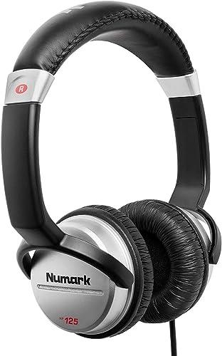 Numark HF125 – Casque Professionnel pour DJ Ultra-Portable avec Câble de 1,8 m, Haut-Parleurs 40 mm pour Une Plus Lar...