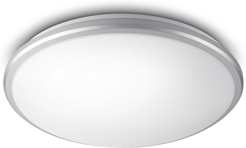 Philips 3434787P0 myBathroom LED Deckenleuchte Guppy, 1700 lm, grau