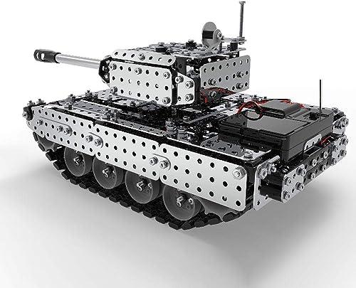 mejor servicio Goolsky RC Battle Tank Tank Tank Car Building Blocks Juguetes Educativos de Acero Inoxidable Control Remoto RC Juguete de Regaño para Niños Niños 952 unids  clásico atemporal
