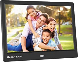 RegeMoudal 10 inch Digital Photo Frames with High Resolution 1280 X 800 IPS LCD Panel, Support 64G SD Card and USB Stick Various Display Modes, for 1080P Videos/Pictures/Calendar/Time/Music Black