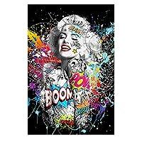 アートポスター女性DIYダイヤモンドペインティングキット5Dフルドリルラインストーンクリスタル刺繡写真クロスステッチアートクラフト大人子供プレゼントホームウォール(スクエア40x(スクエア30x40cm)