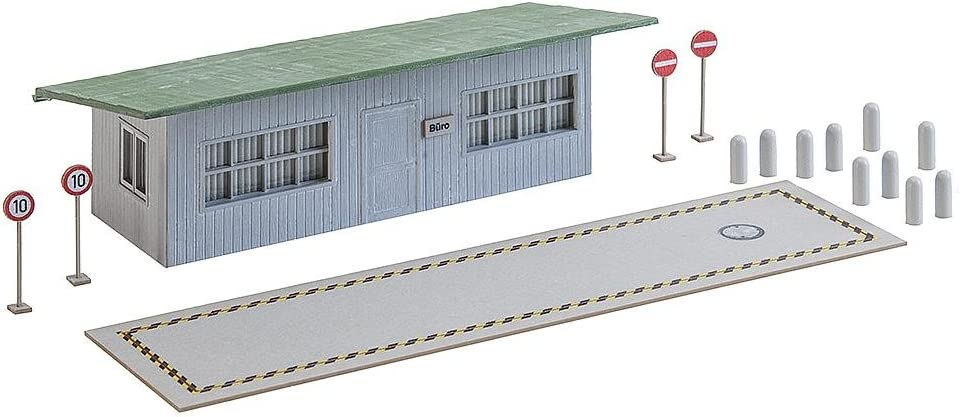 Faller FA 130172–Báscula para Camiones con Oficina Edificios, Accesorios para el diseño de ferrocarril, Modelo