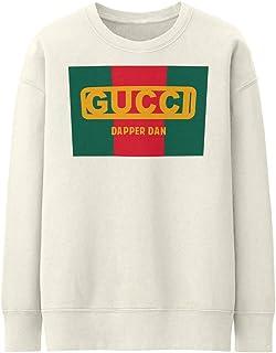 5bbbe2191 Front Dapper Dan Gucci Design Milk/White/Cream Solid Color Unisex Sweater  Sweatshirt Oversize