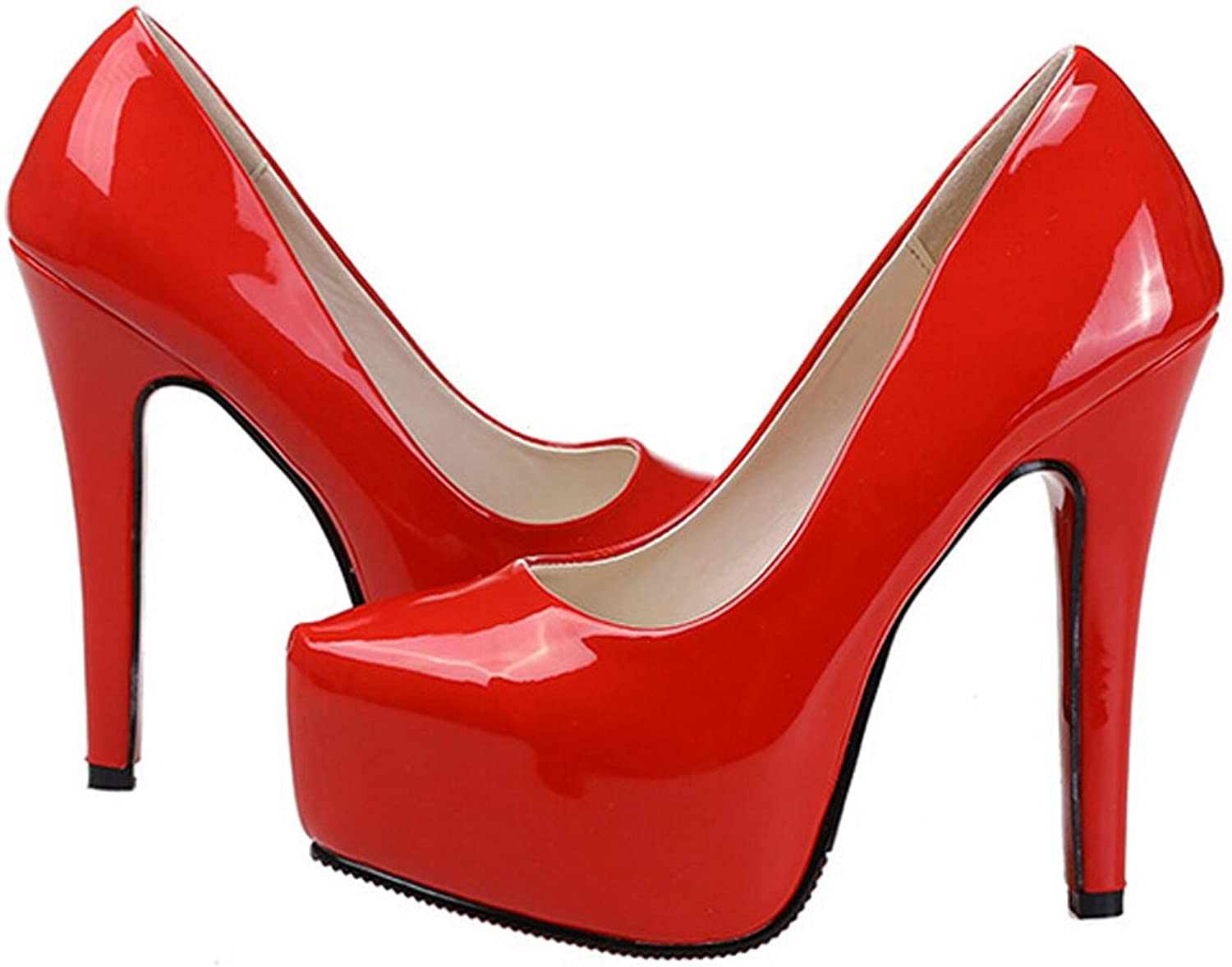 San hojas Leather Pumps High Heel Pumps for Bridel Wedding shoes Red