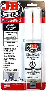 J-B Weld 50101 MinuteWeld Instant-Setting Epoxy Syringe - Dries Clear - 25ml