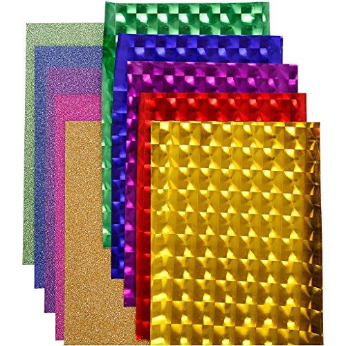 Plastique fin décatif (foil), A : 35 cm, épaisseur 30 + 110 microns, assortiment de couleurs, 10 x 2 m