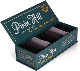 Pirin Hill, Calcetines para hombre, 98% algodón, fabricados en la UE, distribuidos por el fabricante, caja de regalo 7 calcetines de algodón rich