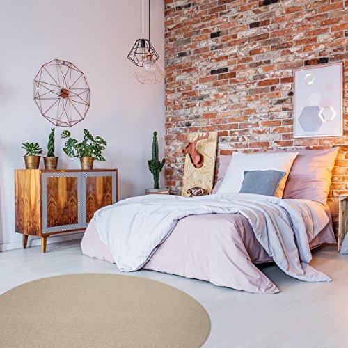 havatex Schurwolle Teppich Shepherd rund - Farbe wählbar   100% Naturfaser Wolle   für Wohnzimmer...