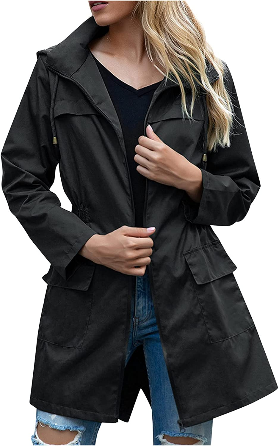 Womens Raincoats Waterproof OFFicial Cinch Waist Weather L Ranking TOP9 Breathable All