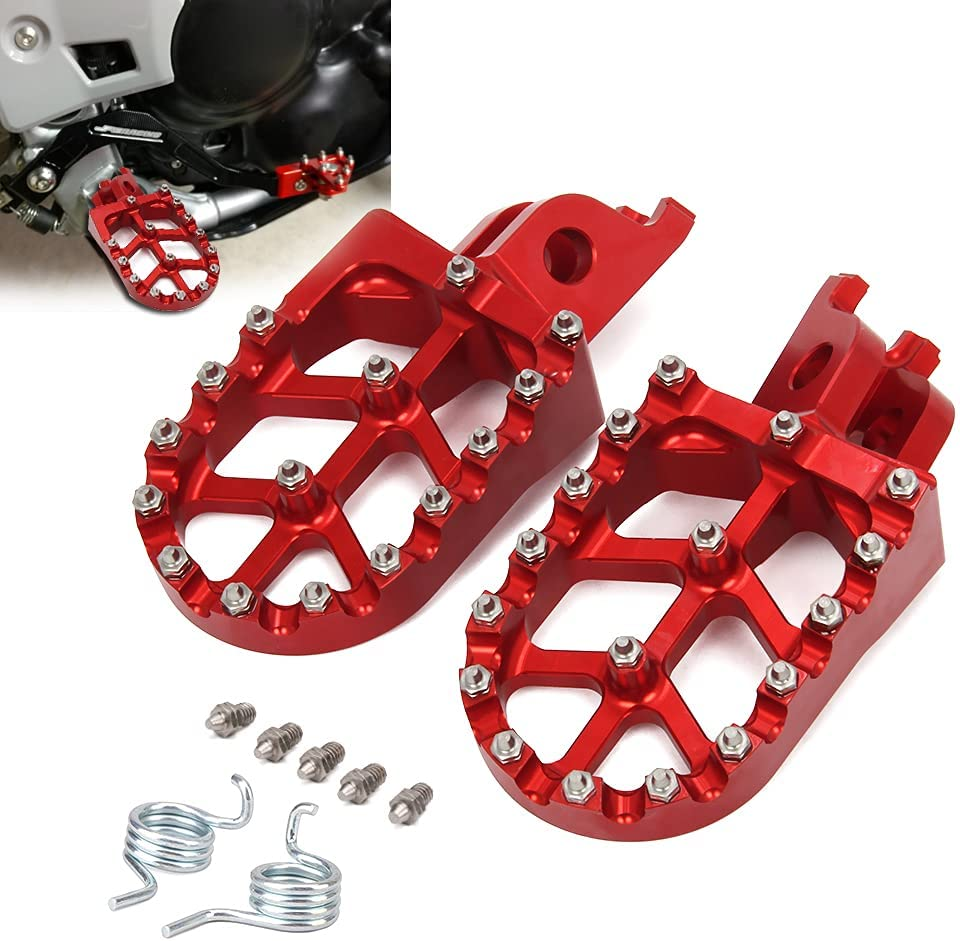JFG RACING Red Billet MX Wide Foot Max 75% OFF Pedals Rests Dealing full price reduction C Honda Pegs For