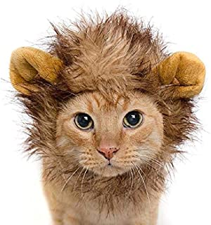 Lion Mane Fancy Cats Dress Costume Lovely Special Funny Apparel Parties for Pet Halloween