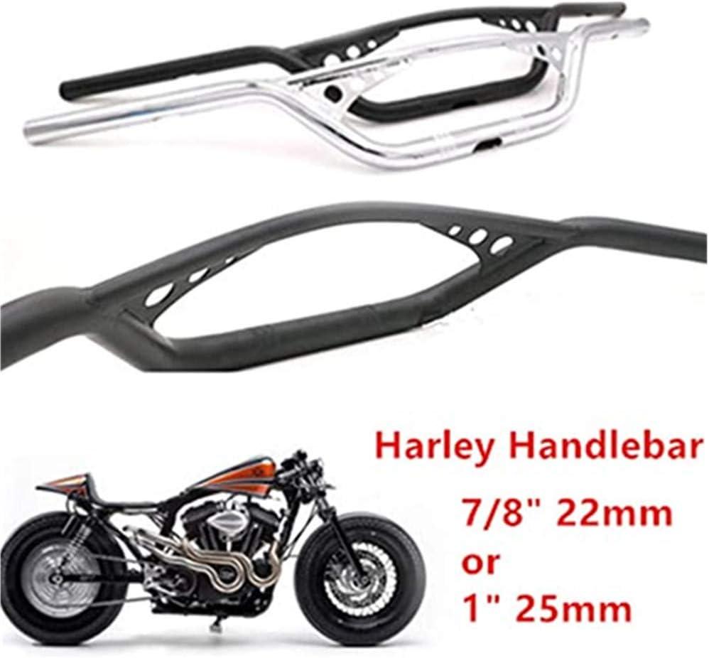 Chrom, 1 25mm Kawasaki Most Chopper Yamaha Motorrad 7//822mm // 1 25mm Bohrloch Tracker Lenker Lenker Universal Drag Bar F/ür Harley Honda Suzuki