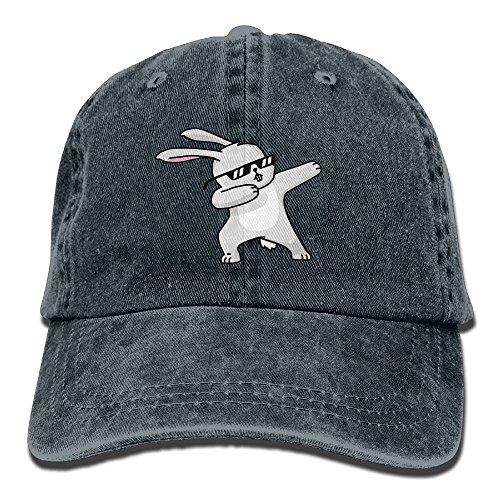 Enzenon Cowboy Hat Cap For Men Women Dabbing Easter Bunny, Navy, One Size