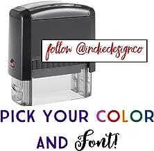 Custom Stamp - 20 Font Options - Self-Inking Address Stamp - 1 Line