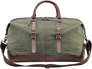 Right Away Oversized Leather Canvas Travel Bag for 2-7 Days of Short Trips, Boarding Packages, Weekend Night Bags, New Promotional Prices