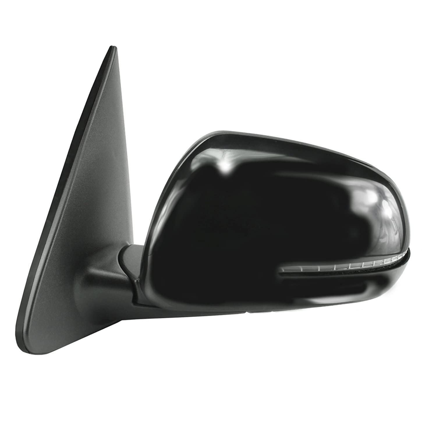 Fit System 75550K Kia Forte Hatchback, Sedan Driver Side Textured Black Heated Power Replacement Mirror with PTM Cover