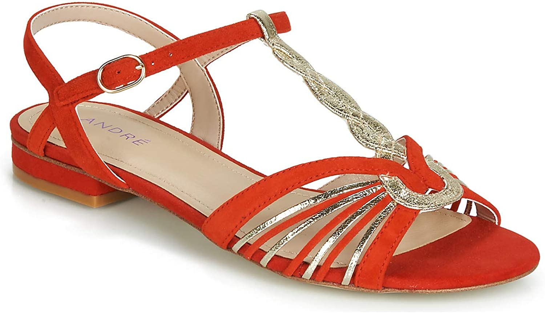 André Callisto Sandalen Sandaletten Damen Rot Sandalen Sandalen Sandaletten  heiß