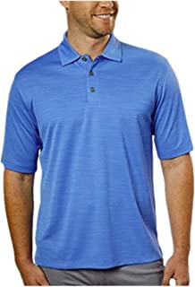 Performance Polo Shirts for Men Moisture Wicking Active Golf Polo (Variety) (L, Blue)