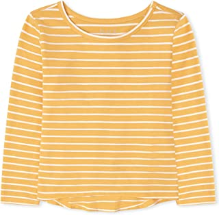 The Children's Place Kids' Long Sleeve Striped Basic Layering Tee
