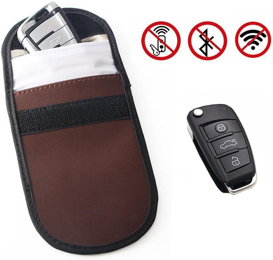 Signal Blocking Tasche f/ür Autoschl/üssel Signal Schutzbeutel Diebstahlschutz Kohlefaser Abschirm Tasche Autoschl/üsselbeutel Autoanh/änger 8 cm Schwarz 12