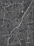 Poster 100 x 130 cm: München Deutschland Karte von Main