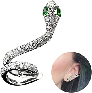 Pendientes de circonita cúbica con diseño de serpiente. Para cartílago, oreja izquierda o derecha. Regalo moderno para chicas