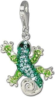 tch/èques cristaux Preciosa Femme GSC552S Argent 925//1000 Charm guitare noir SilberDream scintillement bijoux scintillement Charms