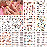 Konsait 753+ Pcs Halloween Nail Stickers, Assorted Self-Adhesive Sugar Skull Cute Pumpkin Zombie Witches Nail Art Sticker Decals for Kids Girls Boys Nail Decoration Halloween Party Favors Supplies